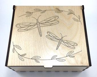 Dragonflies Essential Oil Box, 42 Slots, Aromatherapy Storage Box, Essential Oil Case, Aromatherapy Oil Organizer, Essential Oil Display