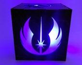 Star Wars Rebel LED Light Lantern, Jedi Knight Lamp, Millennium Falcon Decor, Luke Skywalker, Princess Leia, The Force, LED Lamp