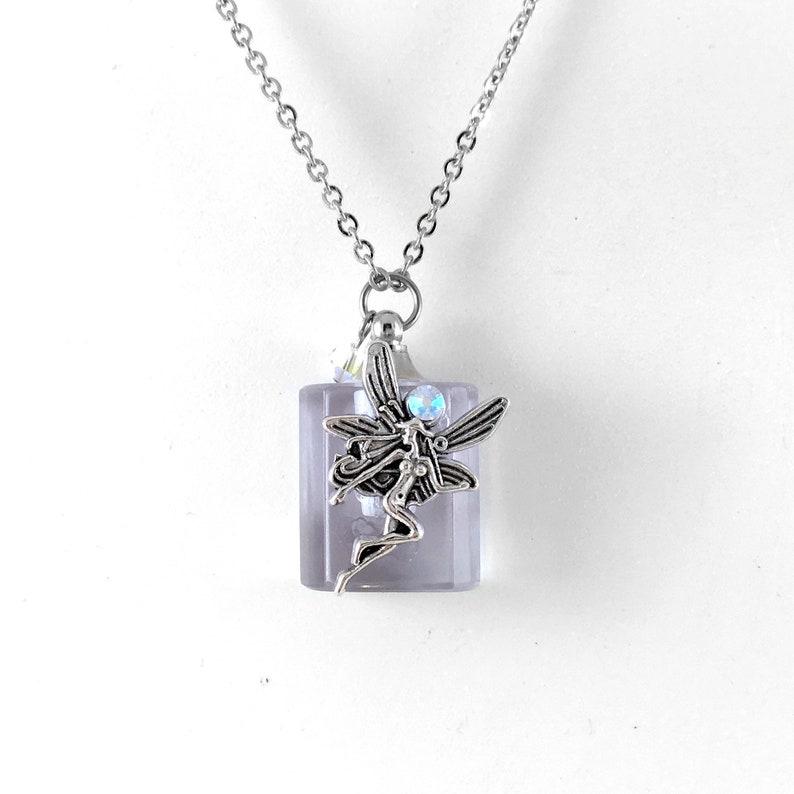 Essential Oil Diffuser Necklace Glass Bottle Fairy Pendant image 0