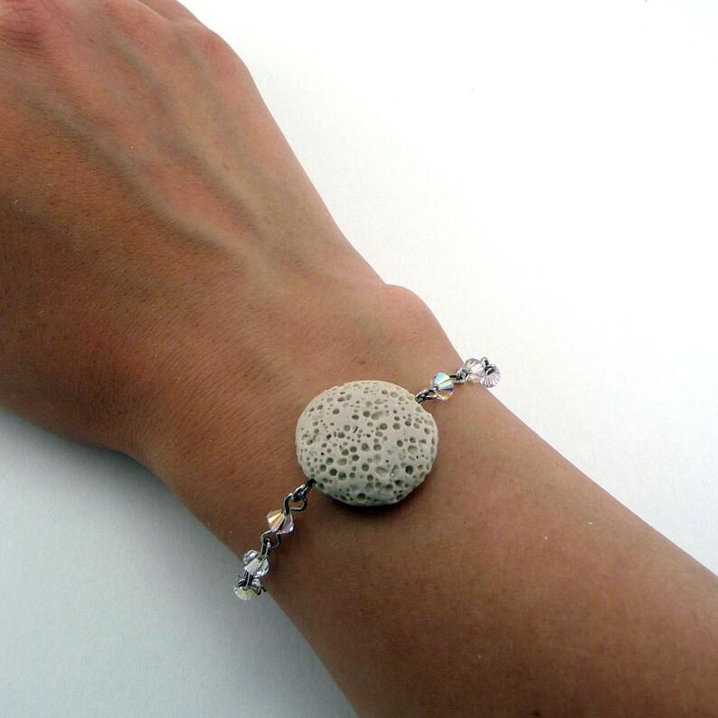 Tan Lava Bracelet Essential Oil Bracelet Lava Stone Jewelry image 0
