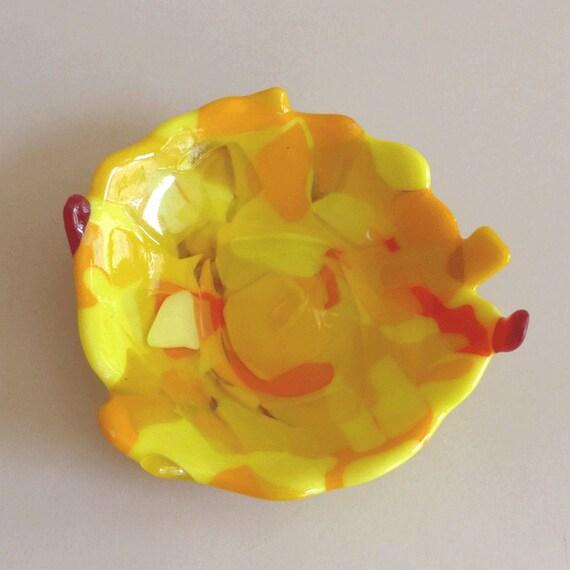 Jaune Tournesol Opal Fused Glass limons COE90 Fusion Craft 8x5cm 2 mm épais