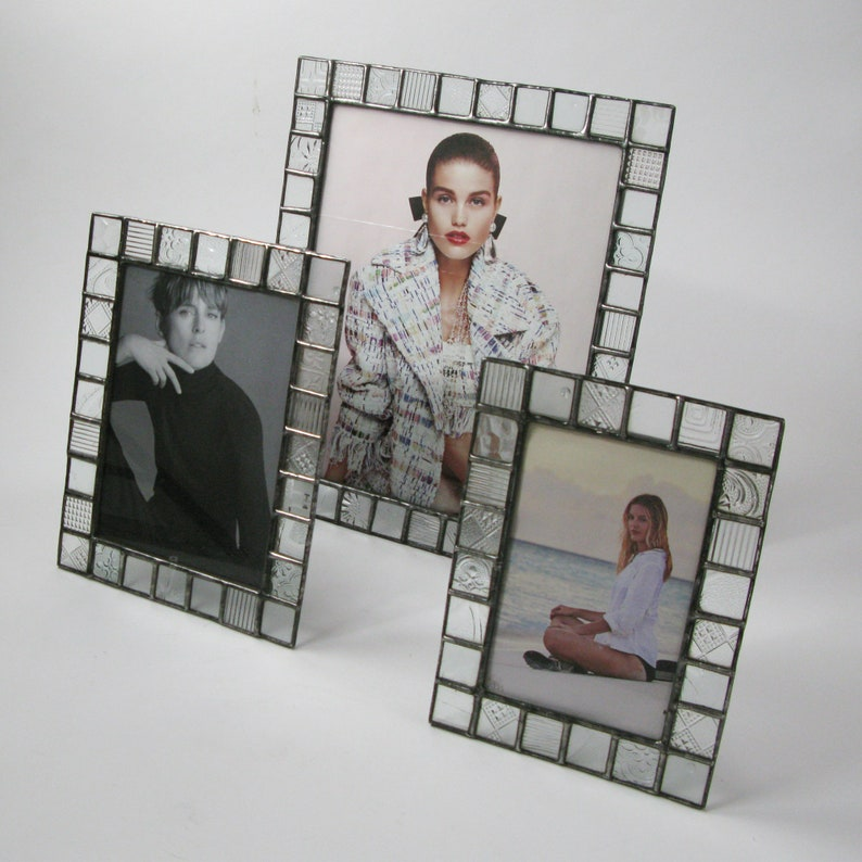 4x6-5x7-8x10 Picture frame Clear pattern glass