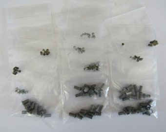 120 Aluminum Rivets, 2mm To 3.5mm, Leather, Hammered Metals, Jewelry Making Supplies, Britz Beads Supply