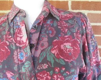 Laura Ashley 1980s Classic Floral Shirtwaist Dress
