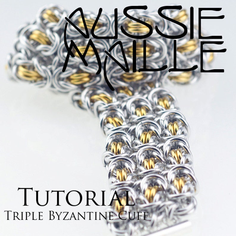 Triple Byzantine Cuff Chainmaille Tutorial