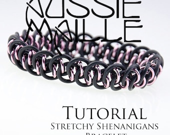 Chainmaille Tutorial - Stretchy Shenanigans Bracelet