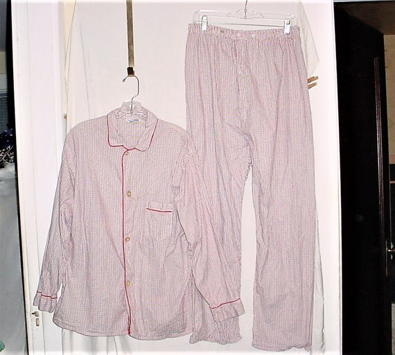 Vintage 50s Sanforized Cotton Red Black Check Paja