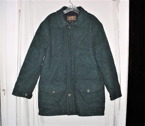 Vintage 80s Eddie Bauer Wool Hunting Jacket Coat M