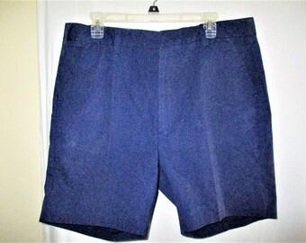 Vintage 60s Blue McGregor Mens Shorts 37 Poly Blend