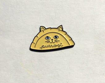 Purrogi Pierogi Cat Enamel Pin