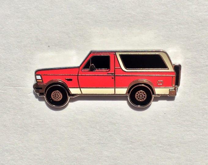 Red Bronco Enamel Pin
