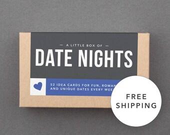 Fun, Romantic 1 Year First Anniversary Gift. For Boyfriend, Girlfriend, Husband, Wife. Date Night Box. Ready to Ship, Free Shipping. (L5DAT)