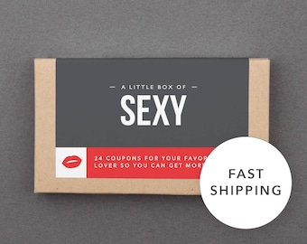 """1 Year Anniversary Gift. For Him, Her, Husband, Wife, Boyfriend, Girlfriend. First Paper Anniversary. Funny, Naughty. """"Sexy Coupons"""" (L2SEX)"""