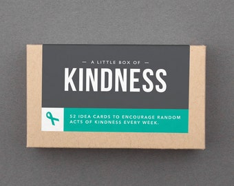 """Kindness Gift Basket Stuffer, Kit. Mother's Day, Birthday. Compassion, Self Care, Box of Cards, Notes. Be Kind, Generous. """"Kindness"""" (L5KIN)"""
