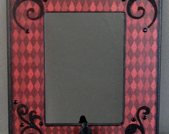 Harlequin Scroll Mirror/Organizer