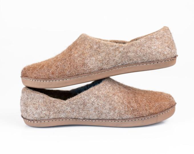 Ready to ship US women 8,5 / 44,5 EU women's comfort Slippers Natural Wool Alpaca Clogs Slippers