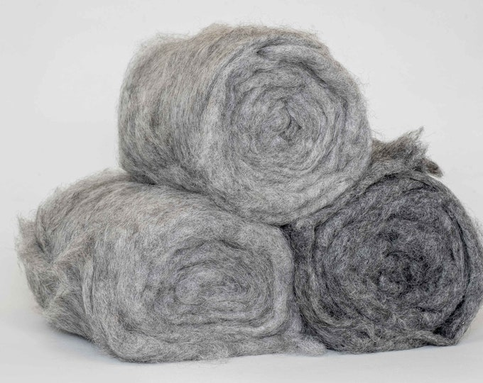 Natural Gotland's Sheep Wool for Wet Felting or Spinning and Knitting, Not Chemically Treated Wool for Wet Hand Felting  500gr / 17,6 oz