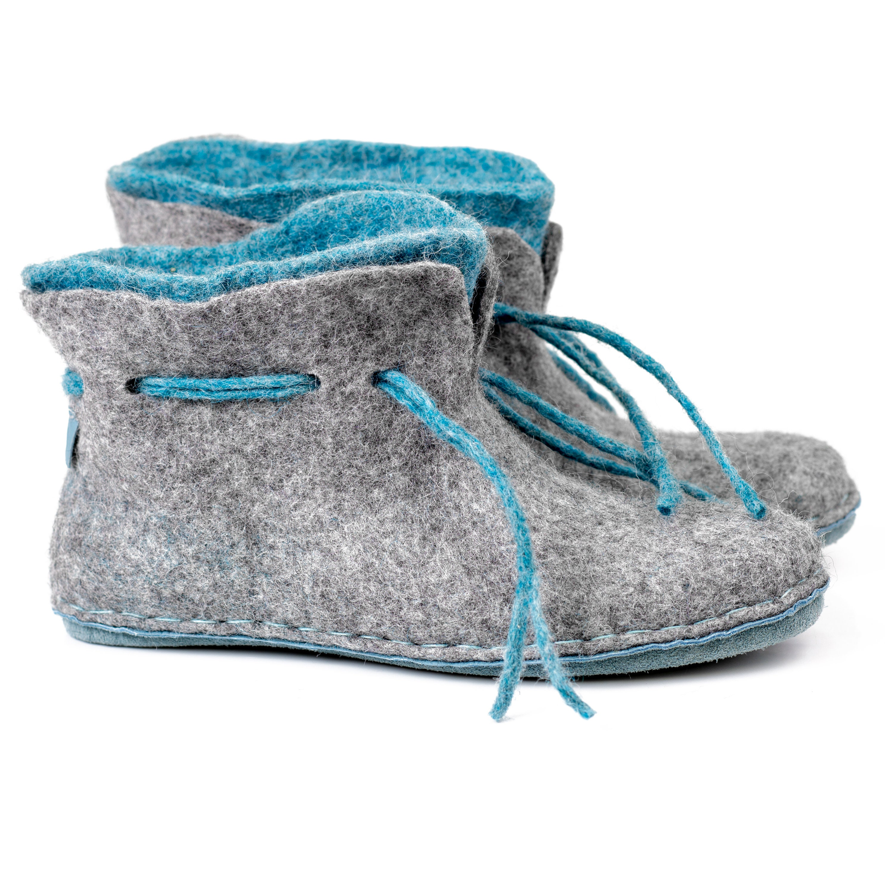 11970fd54c8e9 READY TO SHIP womens size 7 Warm 2 layered blue grey wool ankle ...