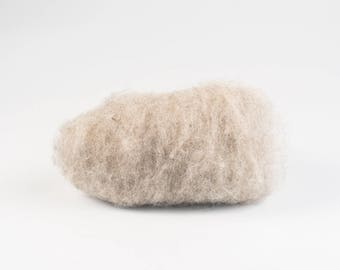 White wet felting wool, Natural Bergschaf wool Mountain sheep wool, Tyrollean wool, Tyrolean wool, Felting supplies for felted slippers