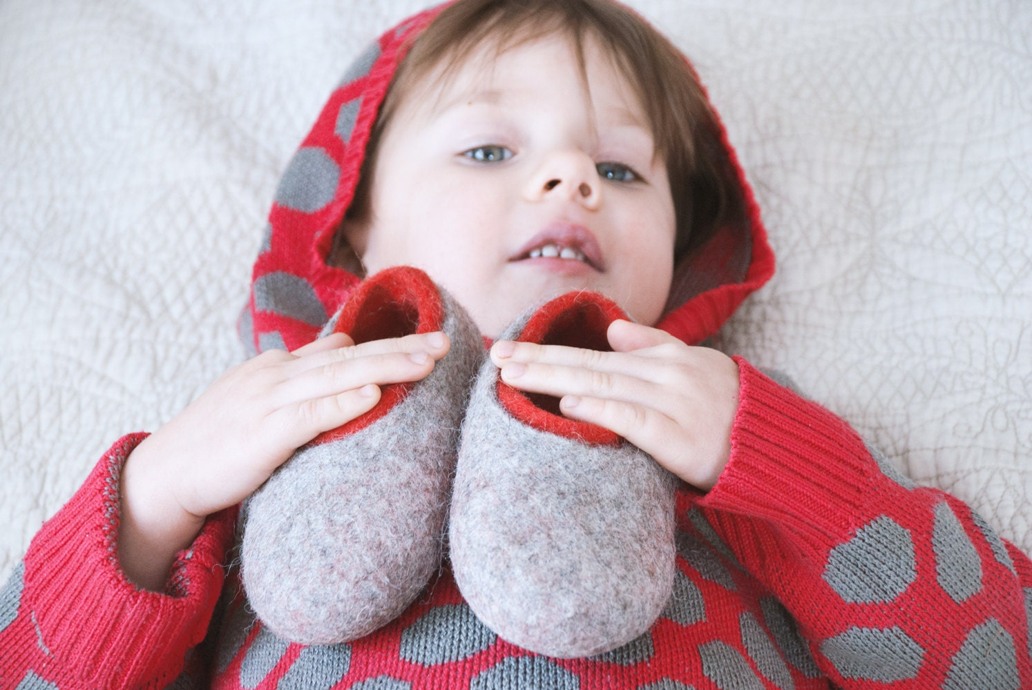 ff83988c9788 ... felted wool slippers for children, little kid gift wool slippers, non  slip home shoes. 1