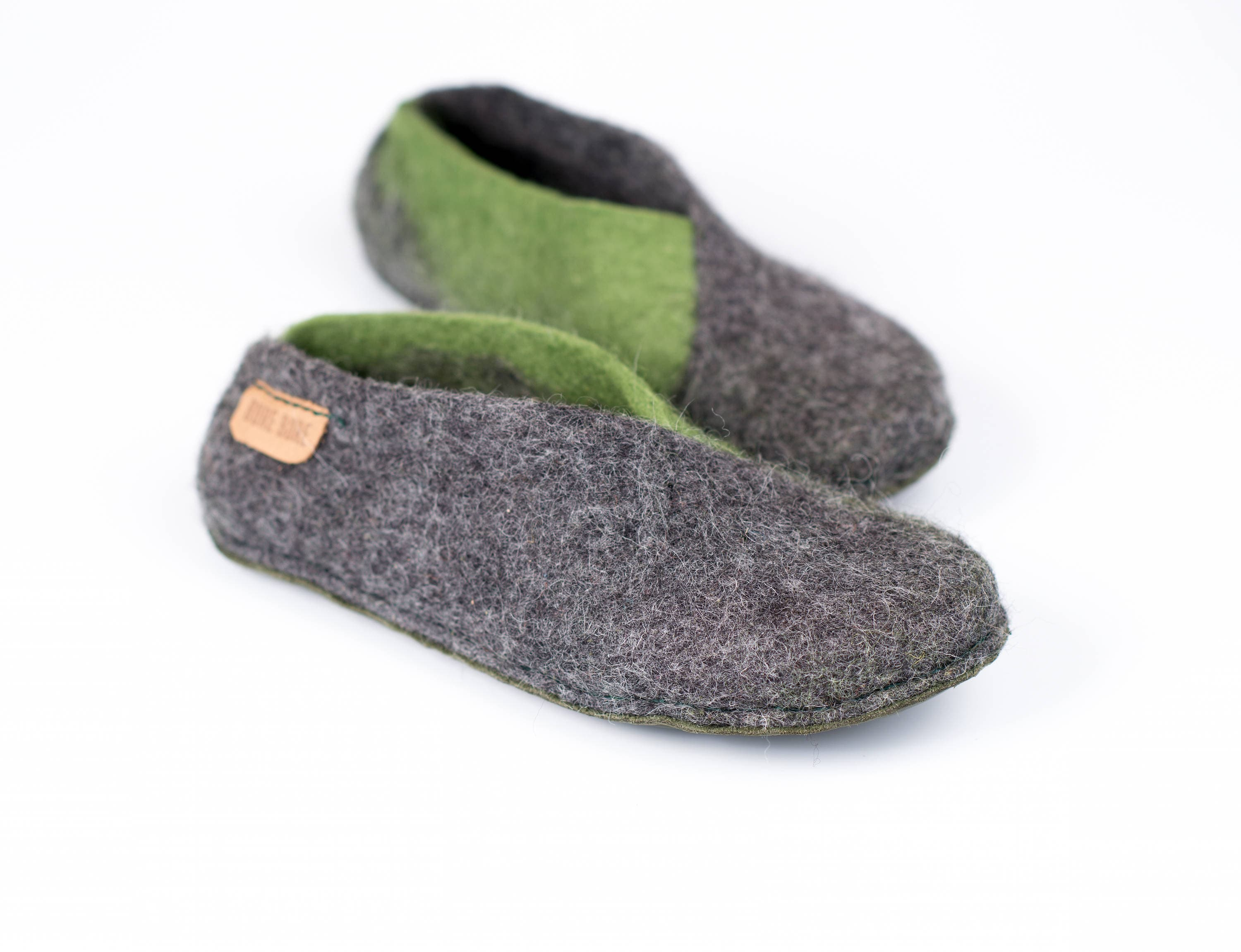 2f246c29239b8 Grey olive envelope slippers, Cozy home shoes, Handmade slippers ...