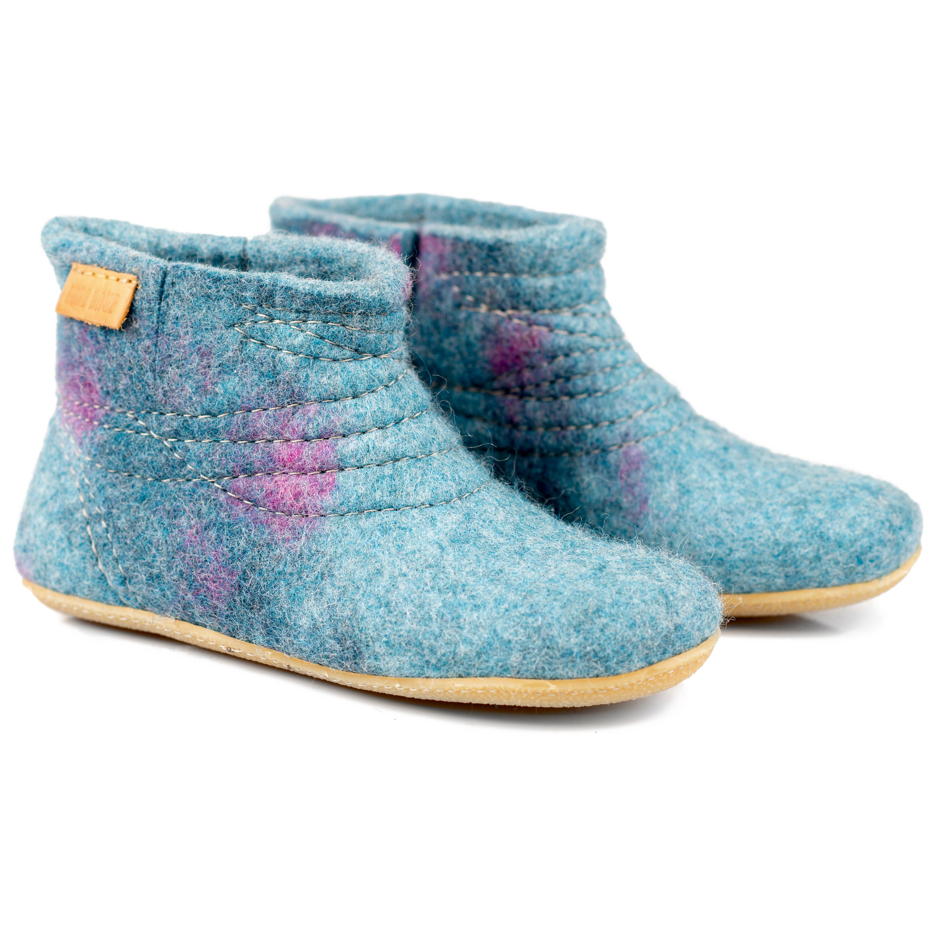 d9886f881b0ef WOOBOOT women's ankle felted wool mid booties slippers with sturdy ...