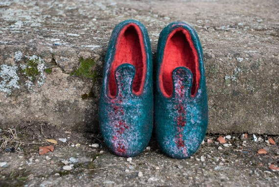 verts et laine brod No Chaussons en rouges de l UXf4xqHF
