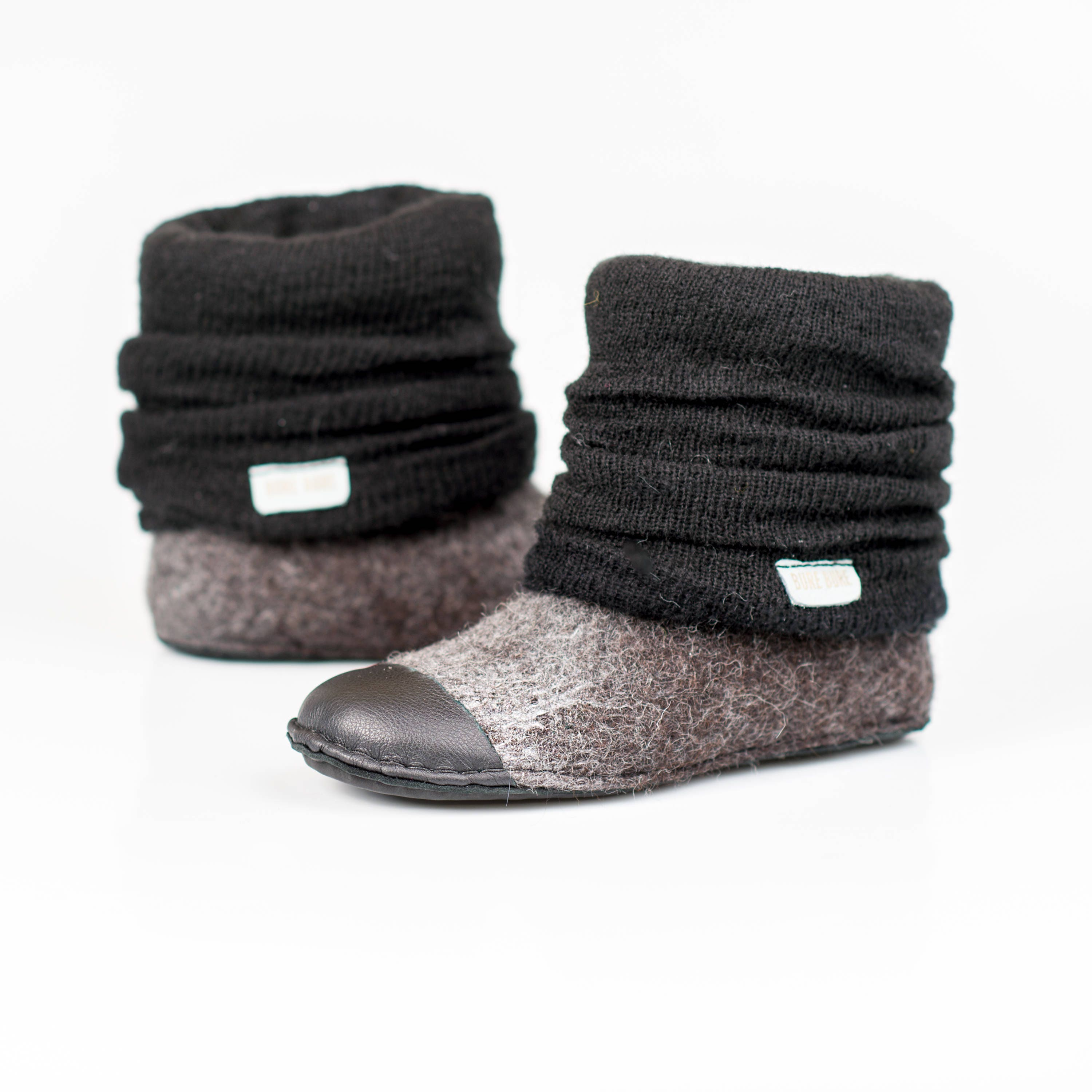 608e6640ff5c7 READY TO SHIP womens size 7 Dark Grey Black wool ankle boots with ...