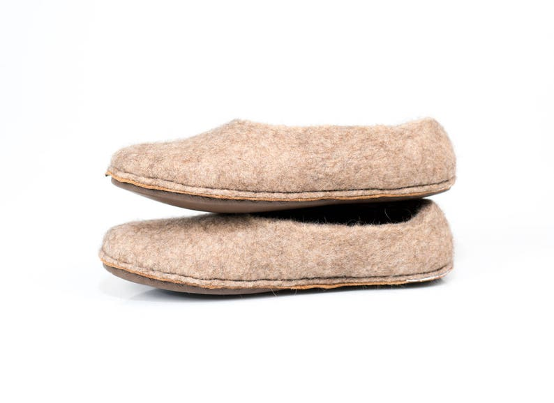 77cfa18f6a7 Beige women slippers with non slip cork and leather soles