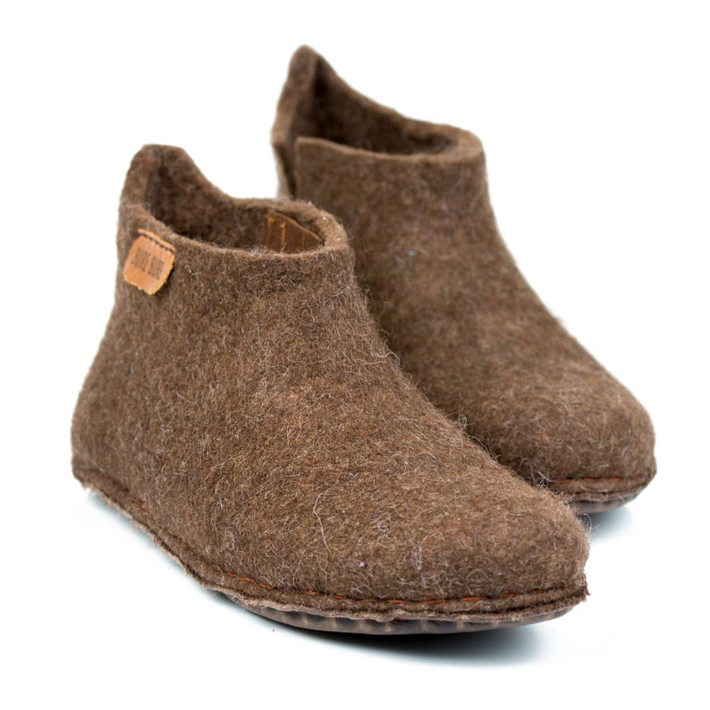 18b68b0005d7f Cozy wool boots slippers for men, handmade gift for Father's day, in  personalised linen bag