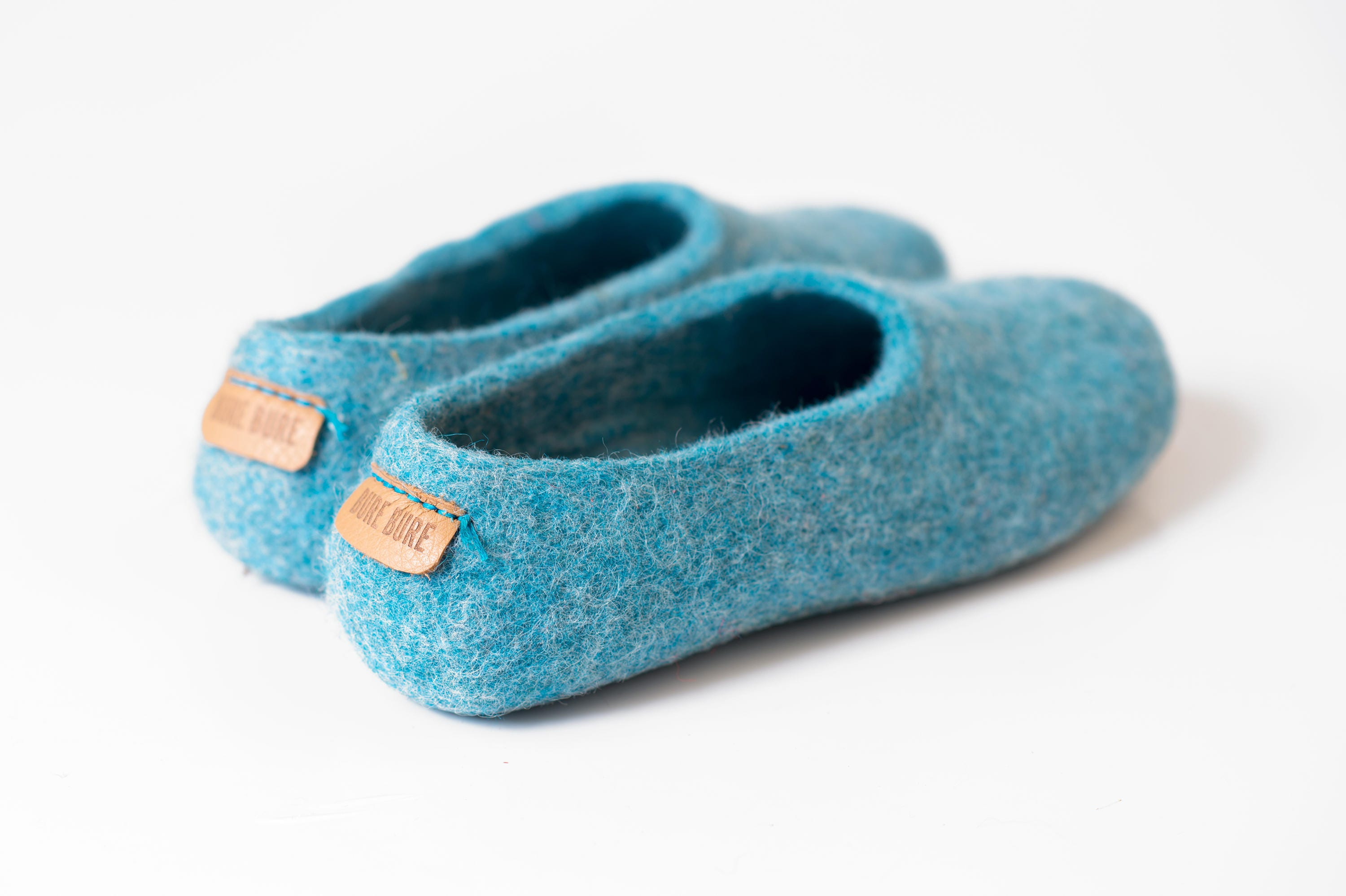 ed2b35d64fb75 Pale Turquoise natural wool felt slippers for women, women Home ...