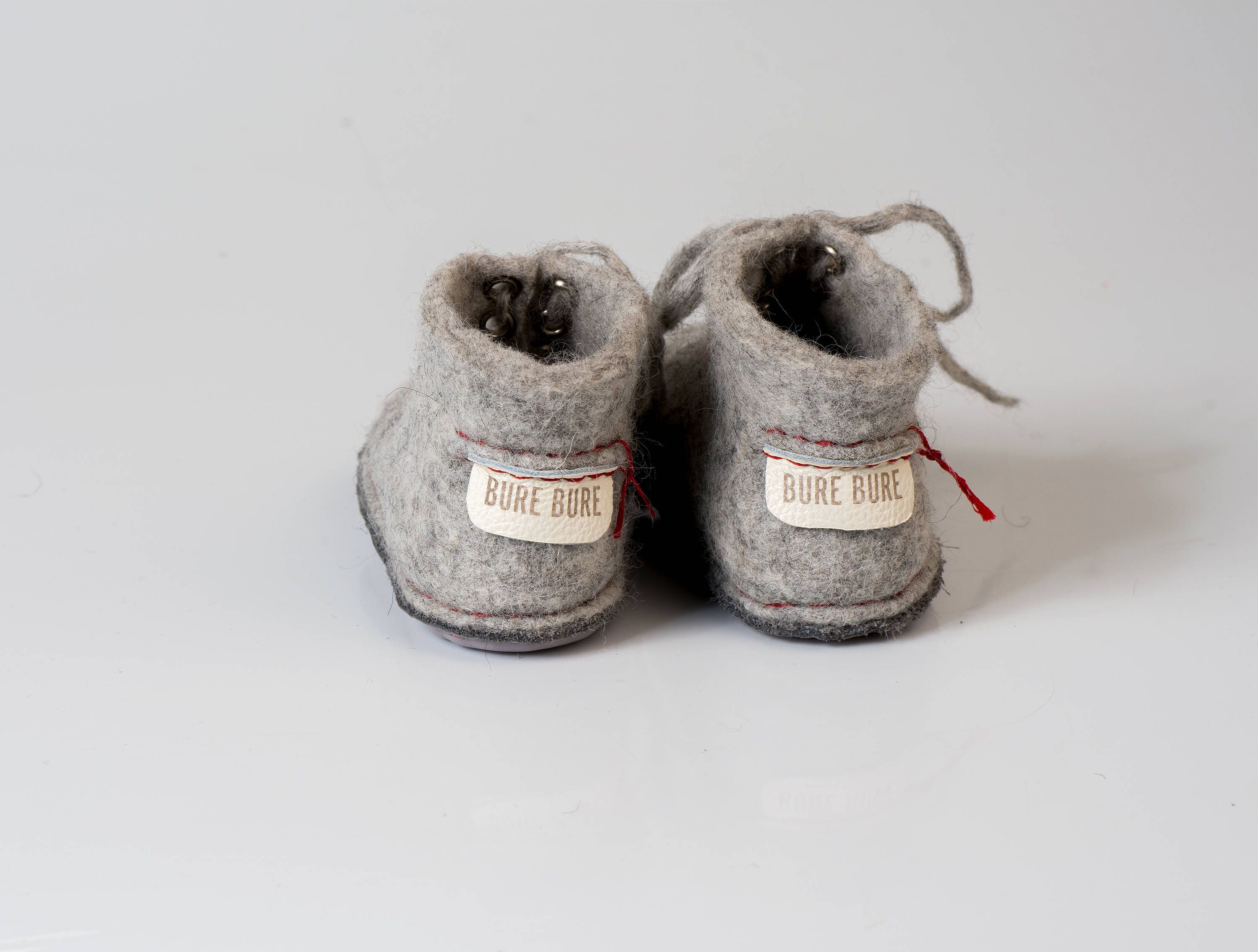 8b23b20cf077c Felted baby booties, Toddler slippers with laces from natural wool ...