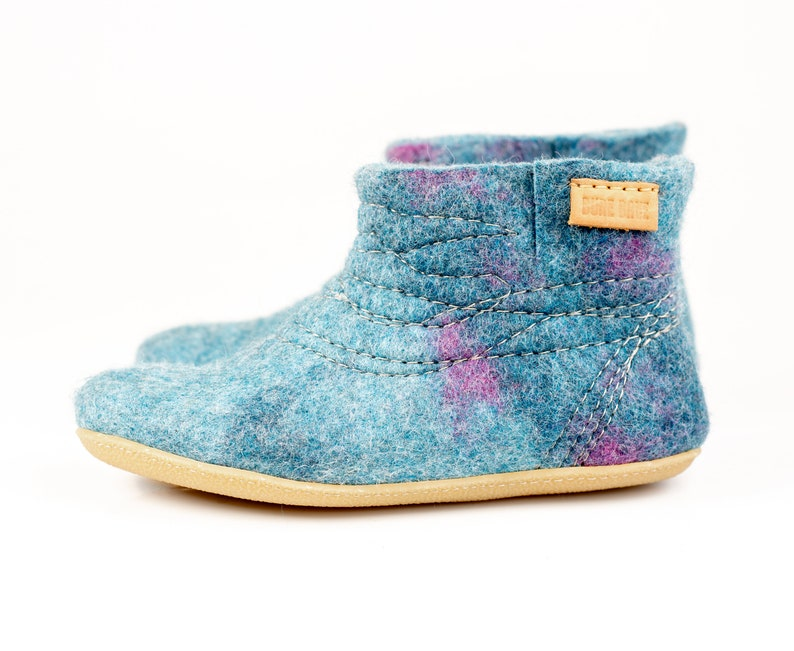 53374b81af453 WOOBOOT warm pure wool boots slippers with sturdy stitching in linen bag,  perfect match for quality and comfort