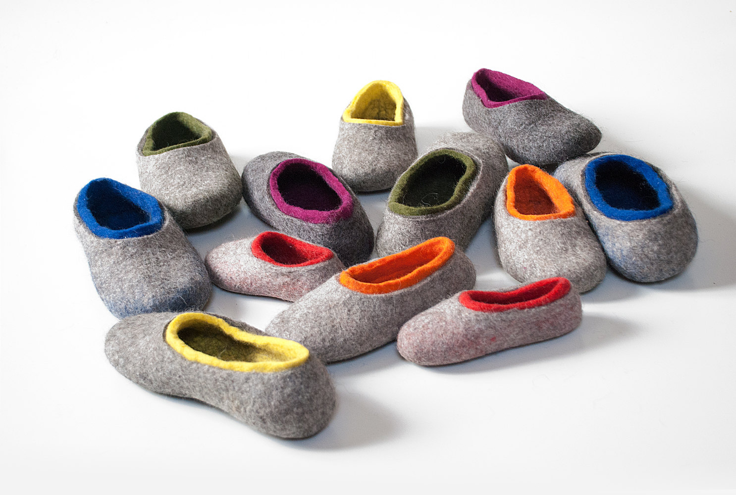 b04451cc7807 Playful toddler wool slippers, Kids home slippers, felted wool slippers for  children, little kid gift wool slippers, non slip home shoes
