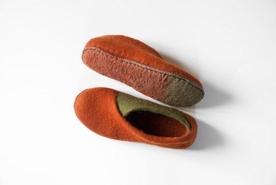 Enveloppe d'olive cannelle pantoufles feutrées feutrées feutrées chaussons chaussures à la main laine feutre pantoufles Eco friendly chaussures chaussures maison confortable printemps 18a0c3