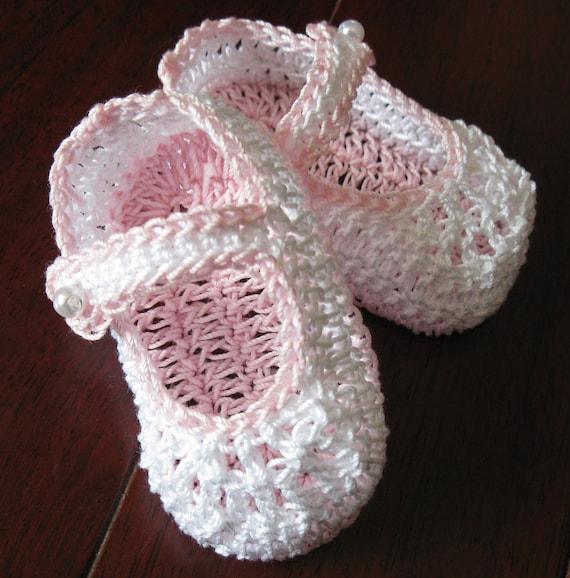 Häkeln Sie neugeborenes Baby Booties Mary Janes Mädchen Krippe   Etsy