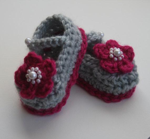 Baby Booties Mädchen Krippe Schuhe häkeln Neugeborenen Mary   Etsy