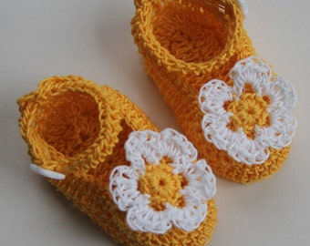 Crochet Newborn Baby Booties Crib Shoes Infant Girl Mary Janes Christening Baby Booties Knit Baptism Baby Shoes Reborn Doll Booties