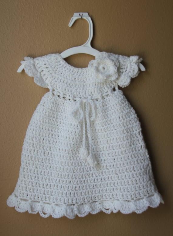 Häkeln Sie Baby Kleid Stricken Neugeborenen Mädchen Kleid Etsy