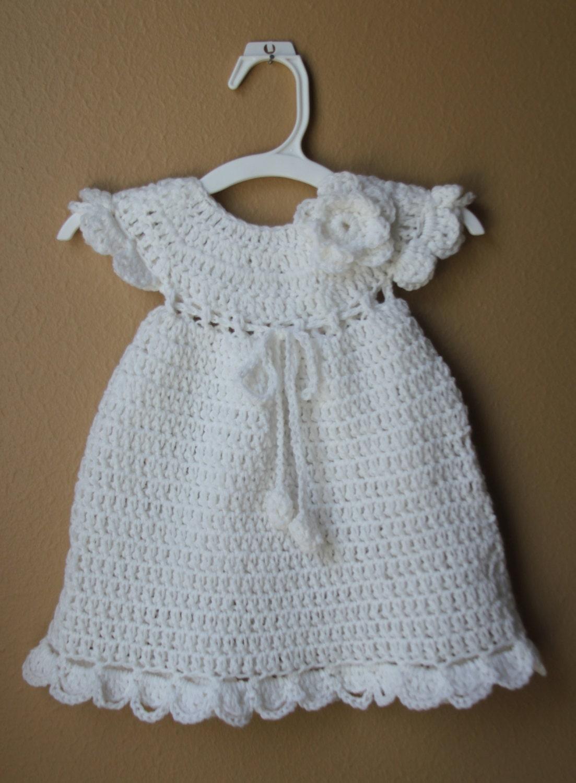 Häkeln Sie Baby Kleid stricken neugeborenen Mädchen Kleid | Etsy