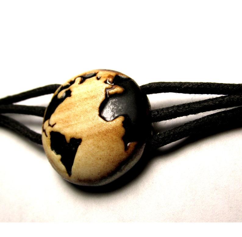 Earth Bracelet Matte Black and Earthy tones...