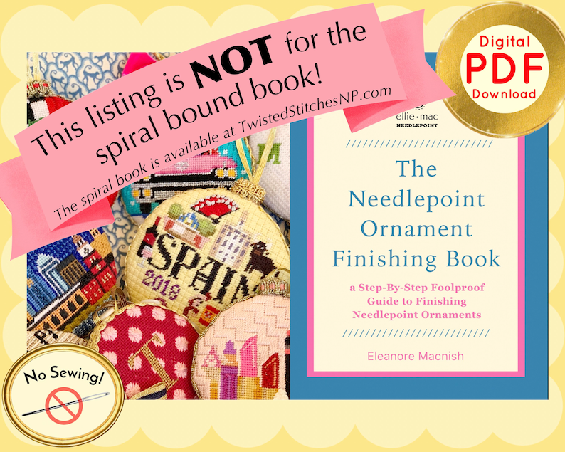 The Needlepoint Ornament Finishing Book by Eleanore Macnish image 0