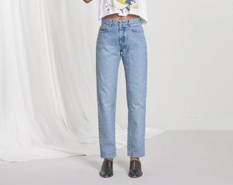 CALVIN KLEIN JEANS 90'S Button Fly vintage easy fit mom jean women denim / Size 4 5
