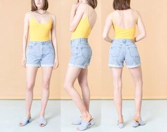 HIGH WAIST SHORTS 90S light wash jean denim women G A P gap vintage spring summer / Size 8 / 29 Inch Waist