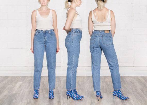 4e76ca30 30 Inch Waist / Size 10 / LEVIS MOM JEANS high waist 550 90S | Etsy