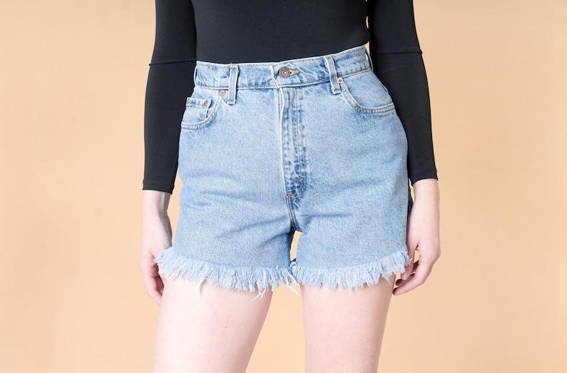 1de48174 Size 9 10 / 30 Inch Waist / LEVIS SHORTS levi HIGH waist denim | Etsy