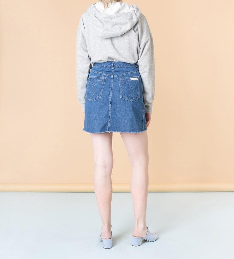 7b498b4b4d SALE / 29 30 Inch Waist / Size 8 / DENIM MINI skirt 90S Calvin | Etsy