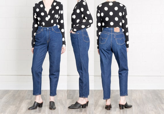 limited price beauty new product SALE / 29 30 Inch Waist / Size 9 10 / super HIGH waist LEVIS curvy dark  wash 505 90S jeans vintage woman spring fall U S A made usa