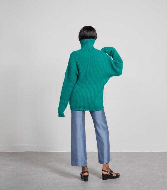 MOHAIR TURTLENECK SWEATER Vintage Jumper Pullover… - image 3