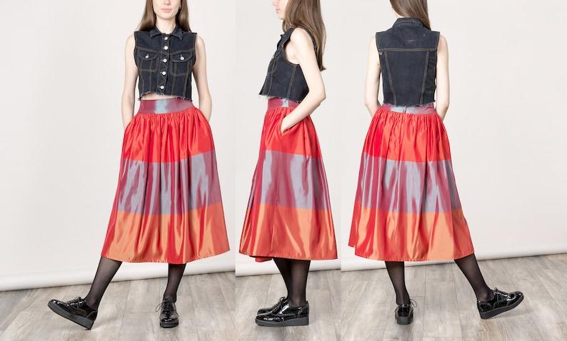53cb463713 25 Inch Waist / Size 2 / FANCY PARTY SKIRT high waist vintage | Etsy